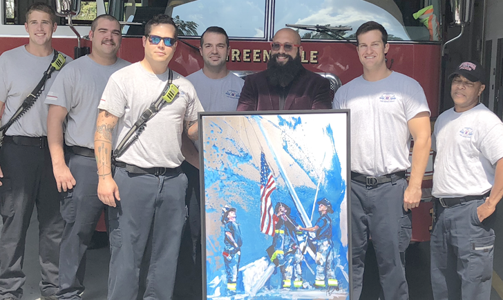 GCFD receives artwork from Joe Everson