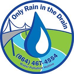 Only Rain in the Drain logo