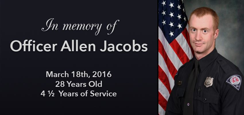 In Memory of Allen Jacobs, photo and inscription